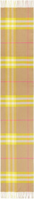 Burberry Giant Icon Check Cashmere Scarf