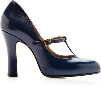 Marc Jacobs Leather Mary-Jane Pumps