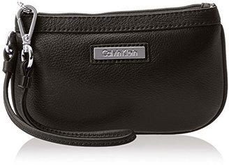 Calvin Klein Pebble Leather Wristlet