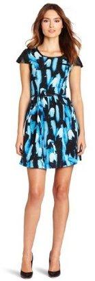 Kensie Women's Feather Print Dress