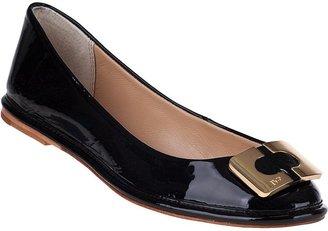 Diane von Furstenberg Brooke Ballet Flat Black Patent
