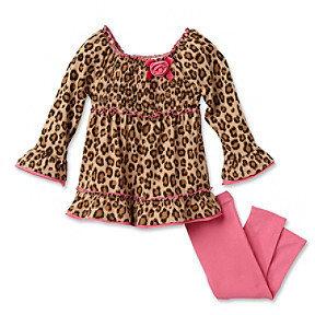 Kids Headquarters Baby Girls' Cheetah Print Tunic and Leggings Set