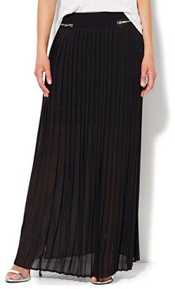 New York & Co. Pleated Maxi Skirt
