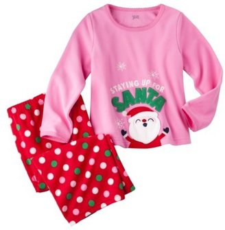 Carter's JUST ONE YOU® Made by Infant Toddler Girls' 2-Piece Long-Sleeve Santa Pajama Set