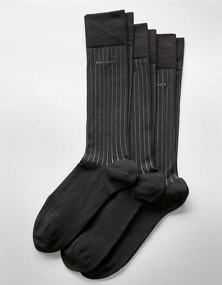 HUGO BOSS Pack of 3 Striped Dress Socks