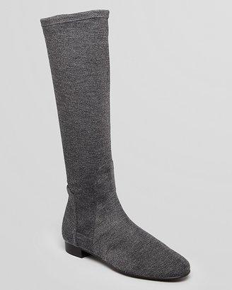 Delman Tall Flat Boots - Meg Stretch Flannel