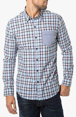 7 Diamonds 'Simply A Joy' Check Trim Fit Cotton Sport Shirt