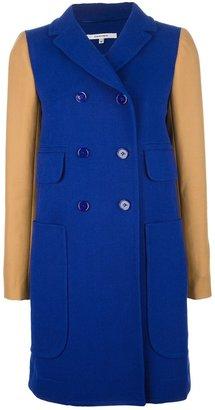 Carven contrast sleeve coat