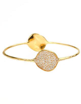Ippolita Stardust Large Two-Flower Gold Diamond Bangle