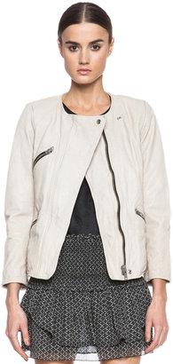 Etoile Isabel Marant Bradi Washed Lambskin Leather Jacket