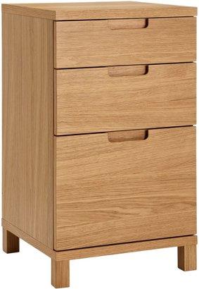 John Lewis & Partners Abacus 3 Drawer Narrow Filing Cabinet, FSC-Certified