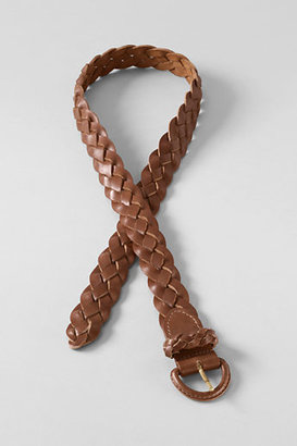 Lands' End Women's Leather Braided Belt