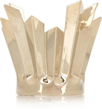 Etro Polished gold-tone plissé cuff