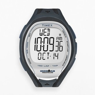 Iron Man Timex watch - men's ironman sleek 150-lap resin digital chronograph - t5k251dh