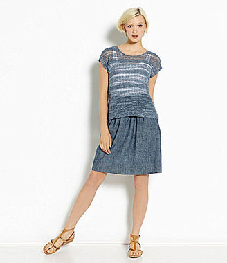 Eileen Fisher Hemp & Organic Cotton Chambray Skirt