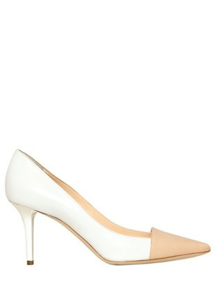 Ballin 90mm Leather Two Tone Pumps