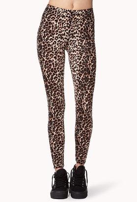 Forever 21 Safari Leopard Leggings