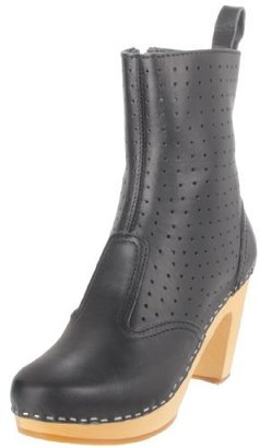 Swedish Hasbeens Women's Perforated Zipper Boot