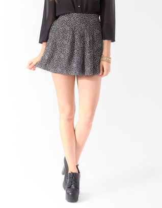 Forever 21 Pleated Ditsy Floral Skirt