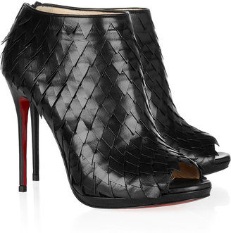 Christian Louboutin Diplonana 120 scale-effect leather ankle boots
