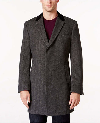 Tommy Hilfiger Grey Herringbone Overcoat $450 thestylecure.com