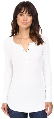 Splendid - Thermal Henley Women's Long Sleeve Pullover $84 thestylecure.com