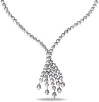 Ice.com 6 -6.5mm Silver Grey Potato Pearl Necklace By Michiko