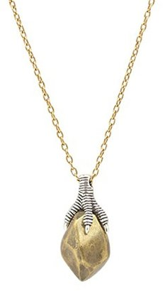 House Of Harlow Talon and Metal Stone Pendant Necklace