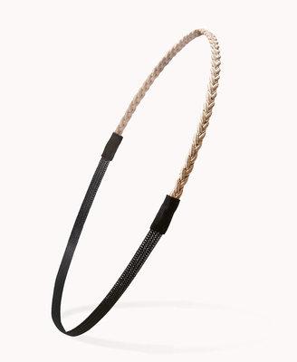 Forever 21 Braided Metallic Headband