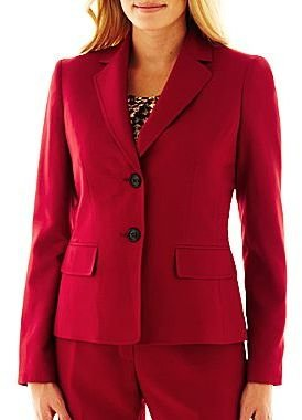 JCPenney 9 & Co.® 2-Button Notch-Collar Jacket