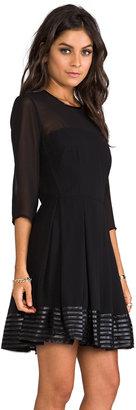 BB Dakota India Chiffon and Mesh Long Sleeve Dress