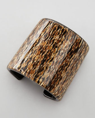 Colette Malouf Patterned Resin Cuff, Brown/Multicolor