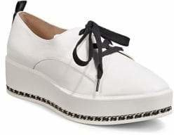 Karl Lagerfeld Paris Chain-Trimmed Lace-Up Sneakers