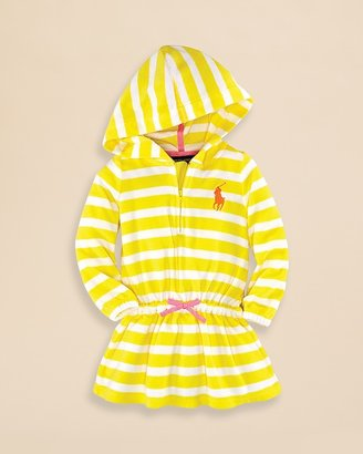 Ralph Lauren Infant Girls' Striped Terry Coverup - Sizes 9-24 Months