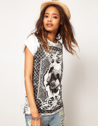 Asos T-Shirt with Baroque Panel