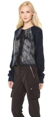 Alexander Wang Fur Spine Crop Pullover