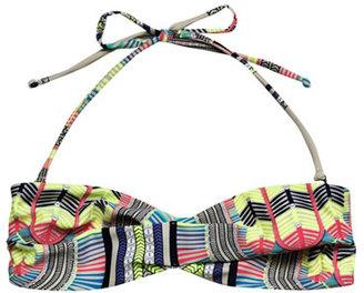 Mara Hoffman Electric casino-print bikini top