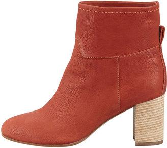 Giuseppe Zanotti Stacked-Heel Leather Ankle Boot, Burnt Orange