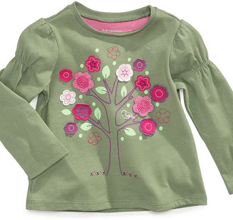 First Impressions Baby Shirt, Baby Girls Long-Sleeved Tree Top