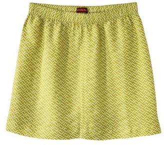 Merona Women's Linen Casual Skirt - Green Print