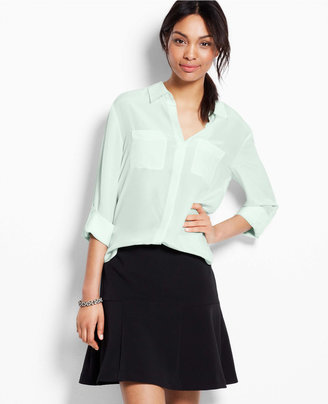 Ann Taylor Silk Camp Shirt