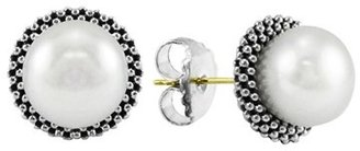 Women's Lagos 'Luna' Pearl Small Stud Earrings $195 thestylecure.com