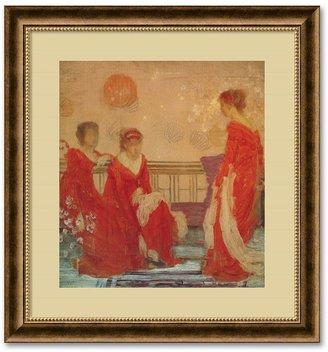 Whistler ''Harmony in Flesh Colour & Red'' Framed Wall Art by James Abbott McNeill