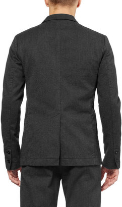 Folk Slim-Fit Flecked Cotton Suit Jacket