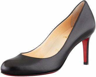 Christian Louboutin Simple Leather Red Sole Pump
