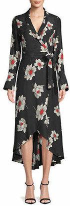 Equipment Gowin Floral Silk Midi Dress