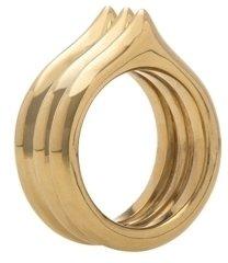 Brass Three-Peak Ring