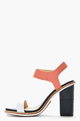 Rag and Bone RAG & BONE Coral and white leather Arlo sandals