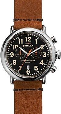 Shinola The Runwell Chronograph Tan Strap Watch, 47mm