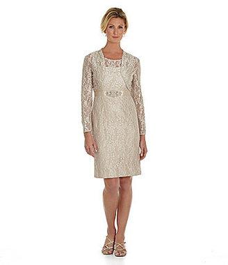 Jessica Howard Lace Bolero Jacket Dress